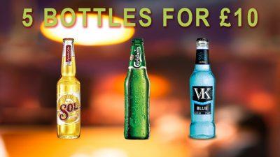 5 Bottles for £10