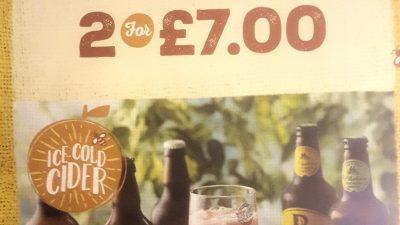 Bottled Cider – 2 for £7.00