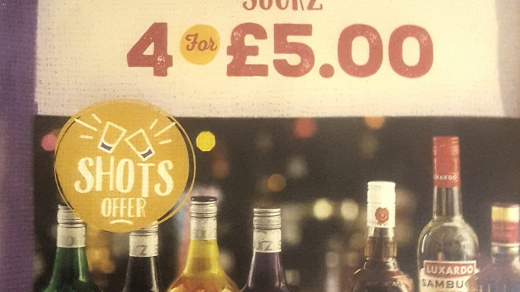 5 Selected Shots for £10 or 4 Sourz for £5
