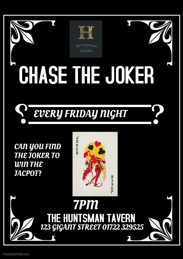 Friday 6PM Come and try and find the Joker!